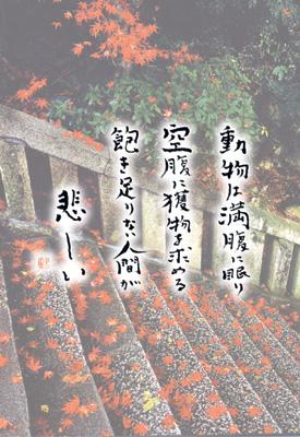 千光寺 ポストカード 参道石段紅染